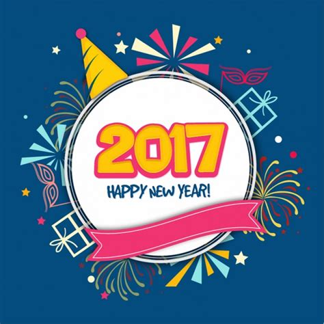 new year decorative elements new year background with decorative elements in flat