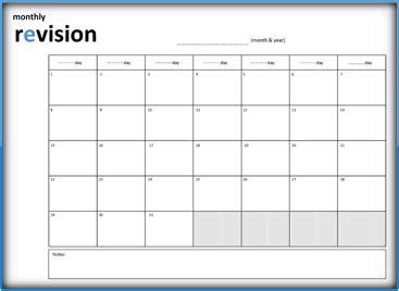 monthly timetable template revision timetable template equipped depict weekly