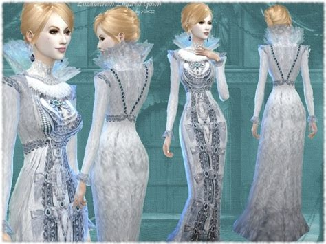 elizabethan times empress gown  mythical sims sims