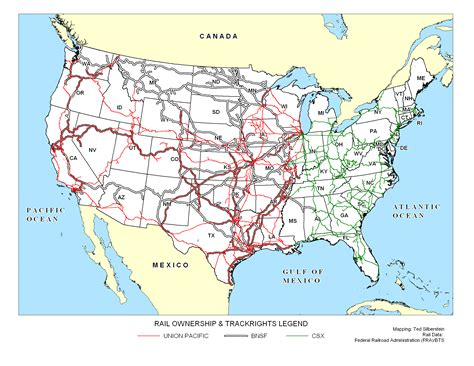 railroad map usa the biomass supply chain
