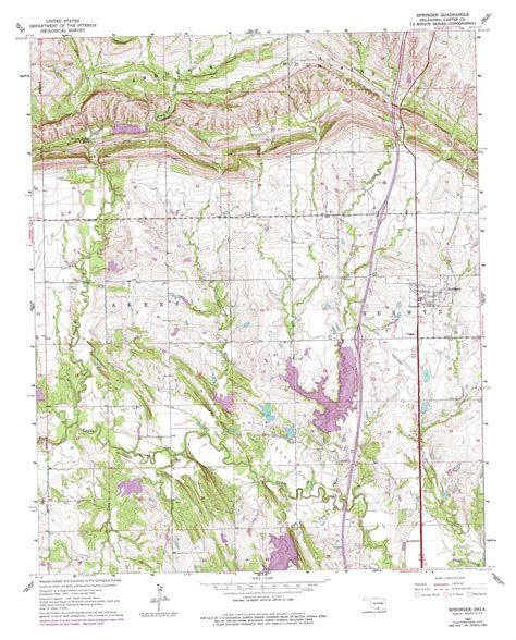 topographical map of oklahoma springer topographic map ok usgs topo 34097c2