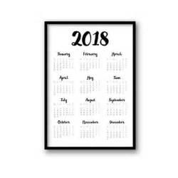 Calendar 2018 Black And White 2018 Calendar Printable Calendar Black White Calendar