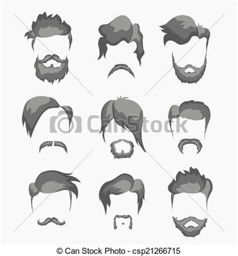 imagenes hipster en caricatura vector clip art de peinado bigote hipster barba