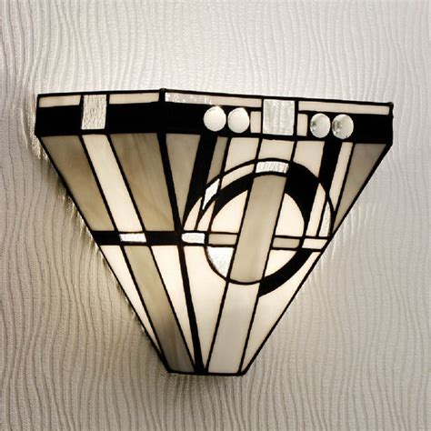 art deco style art deco wall washer wall light with tiffany stained glass