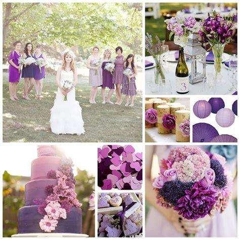 wedding colour schemes lilac purple plum and lilac wedding inspiration board