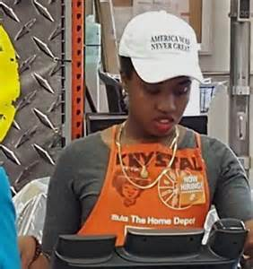 nyc home depot staffer wears america was never great hat