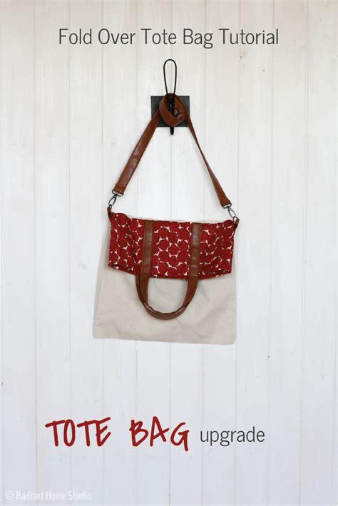 Slingbag Stch Foldover fold tote tutorial tote bag upgrade radiant home studio