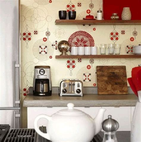 Kitchen Wall Design by Country Kitchen Wallpaper Design Ideas