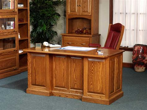 Oak Executive Desk For Natural Office Look Oak Desks For Home Office