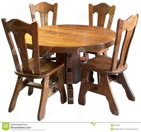 kitchen wooden furniture solid wood kitchen table set isolated stock image image