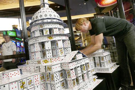 how to make a house of cards record holding stacker builds baltimore d c monuments out of playing cards orlando