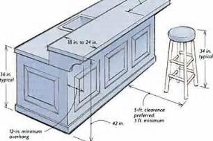 Typical Kitchen Island Dimensions by Building A Breakfast Bar Ehow