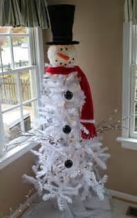 snowman christmas tree tree dollar general white strand
