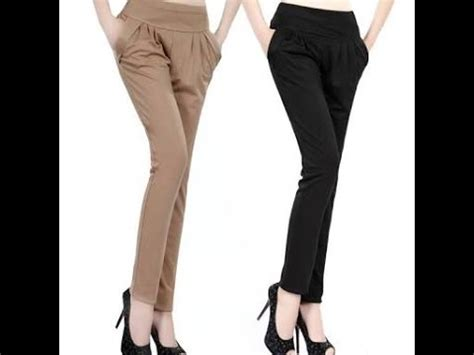 ladies plazo cutting ladies pant cutting with belt side zip youtube