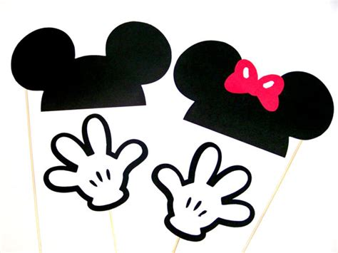 free printable disney photo booth props template photo booth props disney mickey minnie mouse ears hat