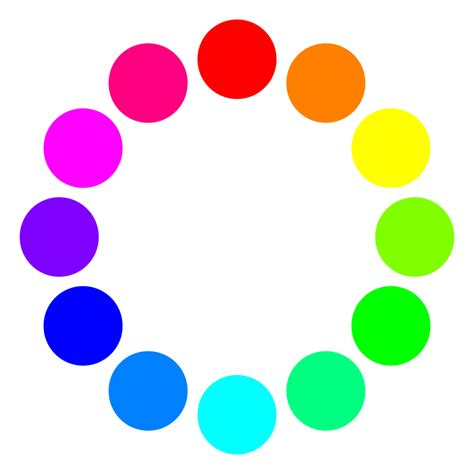 color with a clipart 12 color circles