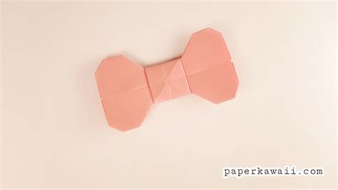 Origami Tutorial Easy - easy origami bow tutorial paper kawaii