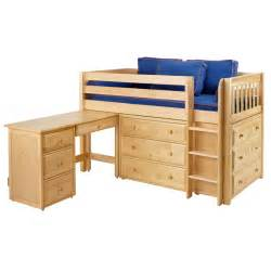 Bunk Bed And Desk Box Low Loft Bed With Dressers And Desk Rosenberryrooms