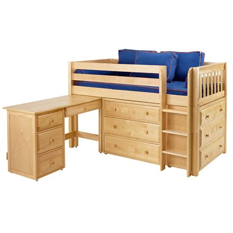 Beds And Dressers by Box Low Loft Bed With Dressers And Desk Rosenberryrooms
