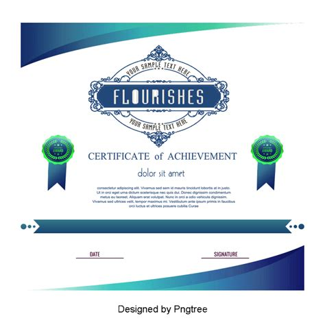 green certificate template vector png png transparent