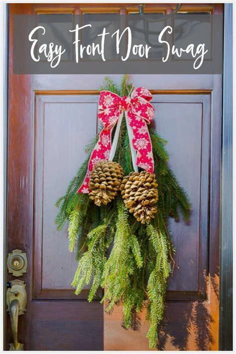easy front door swag   holidays hearth  vine