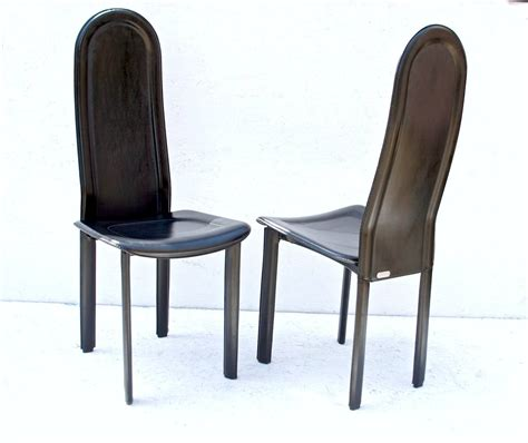 Black Leather Chairs Dining Black Leather Dining Chairs By Artedi U K For Sale At 1stdibs