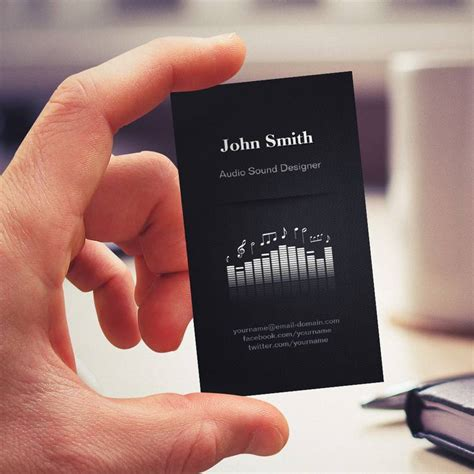audio engineer business card template acoustic audio sound designer engineer director business