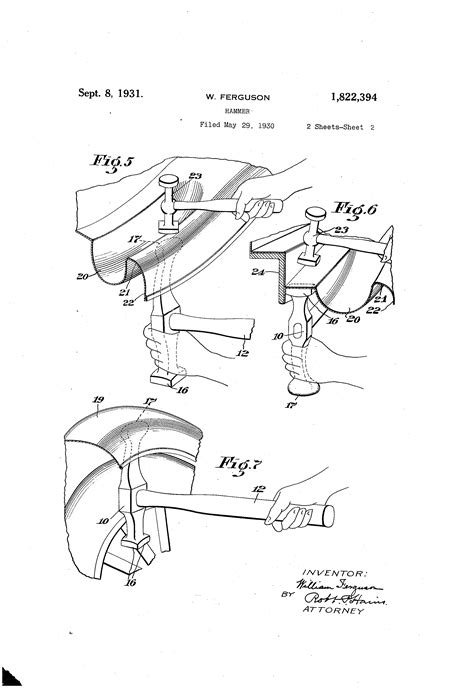 Patent US1822394 - Hammer - Google Patents | Metal working