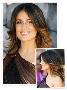ombre hairstyles for hispanic women salma hayek photos photos celebrities arrive at