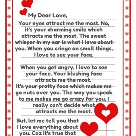 best romantic love letters for him letter format writing