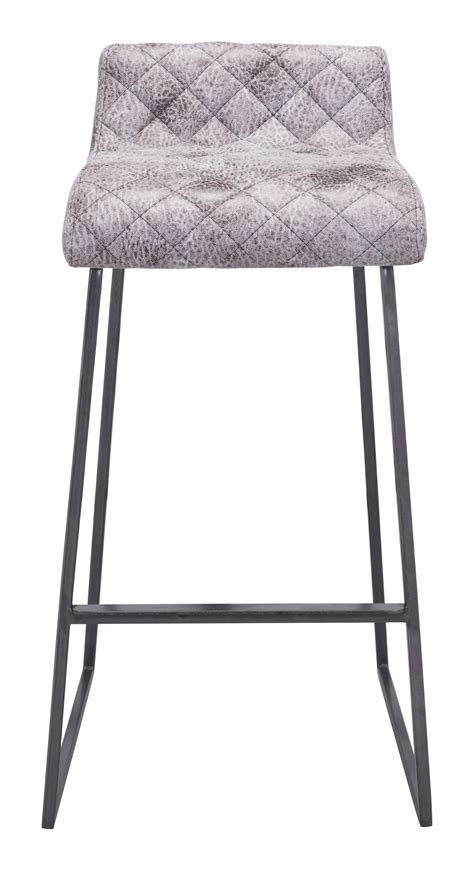 3 White Bar Stools by Zuo Era Vintage 30 3 In Bar Stool Set Of 2