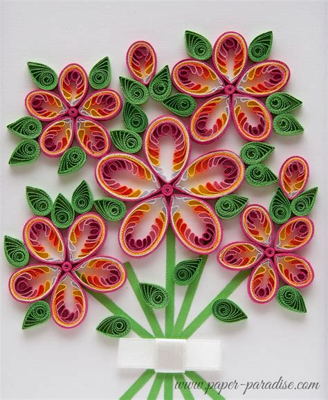 flower pattern for quilling quilling kwiaty quilled flowers bukiet quilling