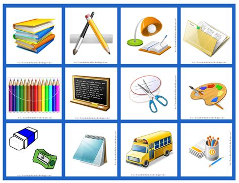 imagenes de utiles escolares en ingles para imprimir figuras de utiles escolares imagui