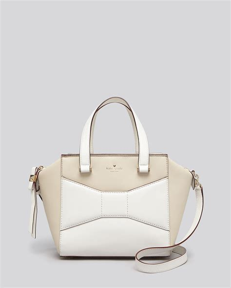 kate spade satchel 2 park avenue small colorblock beau in white ostrich egg cream lyst