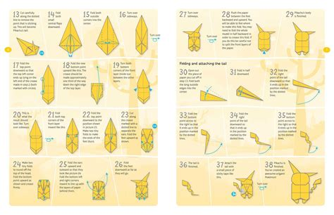 tutorial origami pokemon tutorial origami pikachu