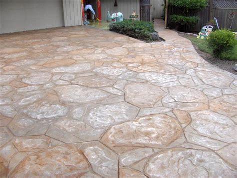 Flagstone Entryway Stone Patterns Decorative Concrete San Luis Obispo Ca