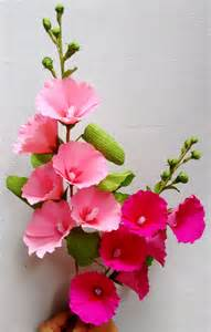 Www Paper Flowers - how to make paper flowers hollyhock mallows flower 62