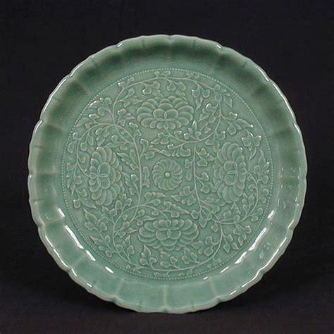 Celadon Vases Korea Lotus Design Celadon Plate