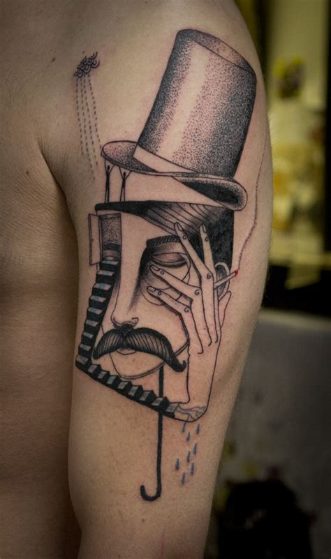 cigarette tattoo with cigarette by expanded eye jpg
