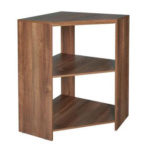 Closet Corner Shelf Unit by Closetmaid Impressions 28 7 In W X 41 5 In H Walnut