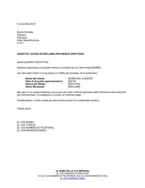 dispense di inglese pdf avviso di reclamo per merce difettosa modelli e esempi