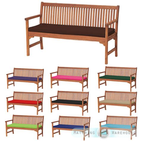 bench with cushion seat outdoor waterproof 3 seater bench swing seat cushion