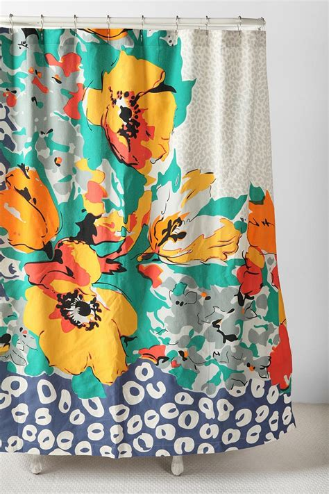 orange and blue drapes best 20 floral shower curtains ideas on pinterest navy