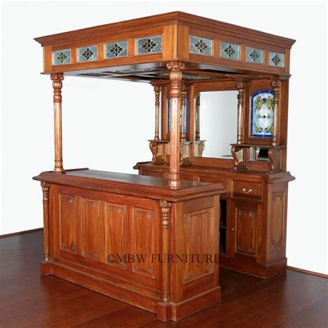 mahogany classical canopy home pub wine liquor bar