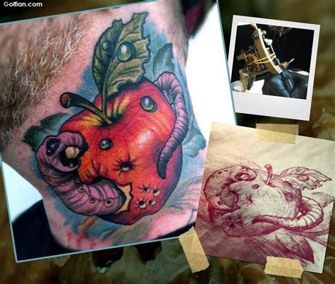 rotten apple tattoo 90 most amazing apple designs apple tattoos