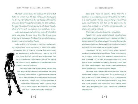 Between The Lines Hardcover between the lines by jodi picoult leer