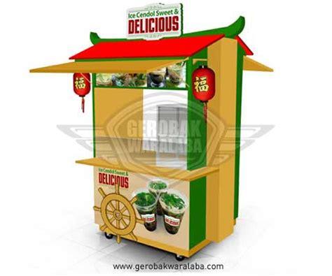 desain gerobak cendol booth unik cendol gerobak ice cendol bandung