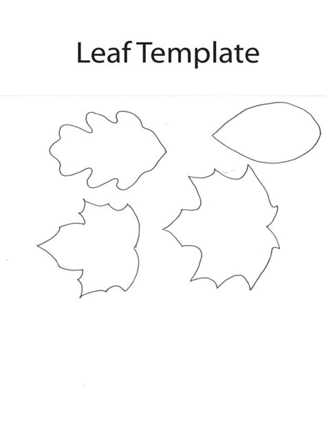 leaf template pdf leaf template 6 free templates in pdf word excel