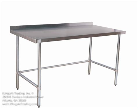 commercial kitchen table stainless work tables with backsplash all stainless prep