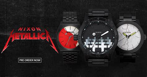 metallica x nixon time marches on with line of nixon watches metallica